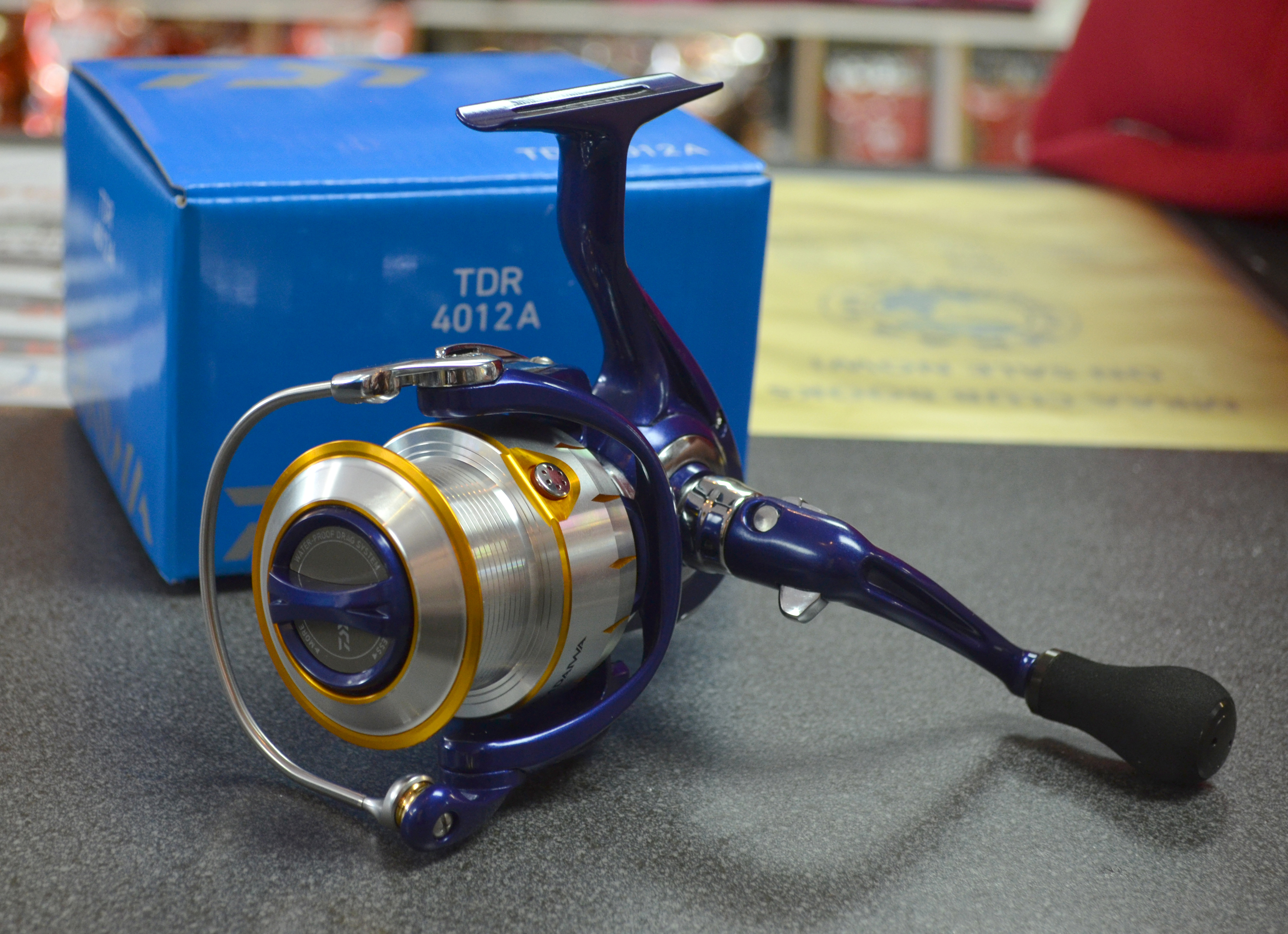 The New DAIWA TDR 4012A Reel finished with a Quick Drag Spool and Mag Sealed!