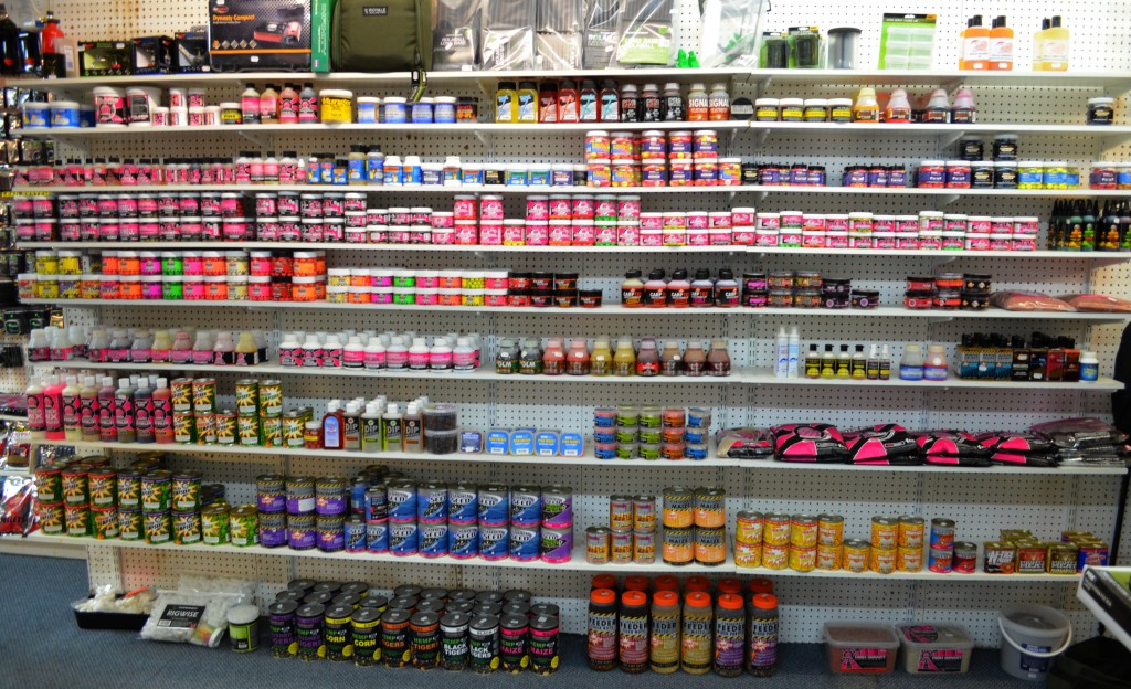 Some of the many carp baits we stock.