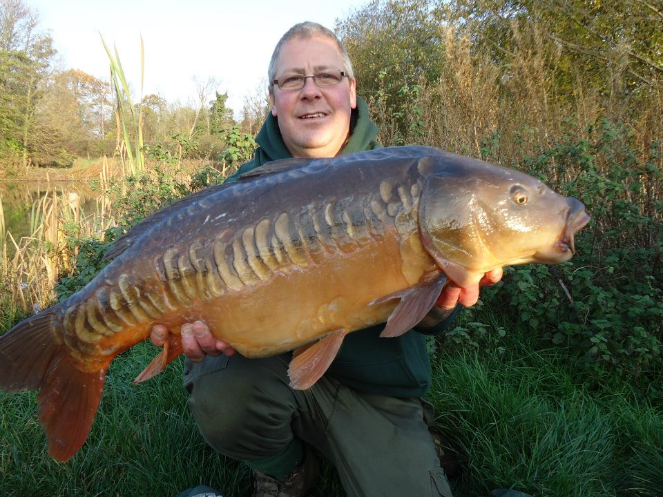 Simon Cooper with a lovely mirror