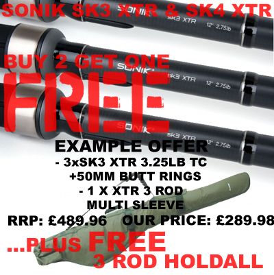 Sonik SK3/SK4 Rods and 3 Rod Holdall for under £300!