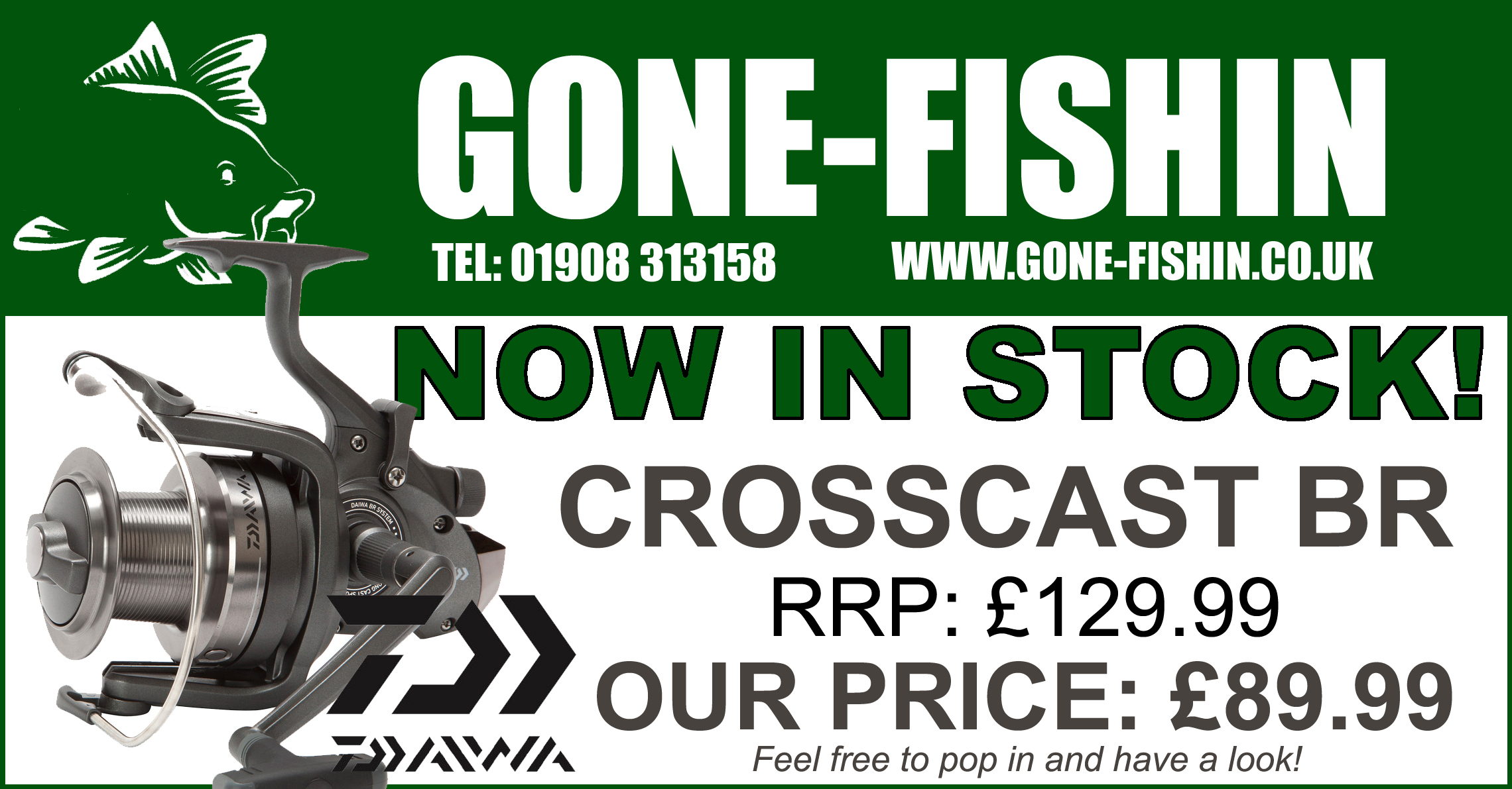 NEW CROSSCAST BR REELS IN STOCK NOW!